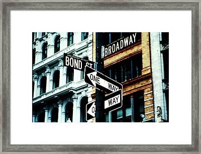 One Way Junction Framed Print