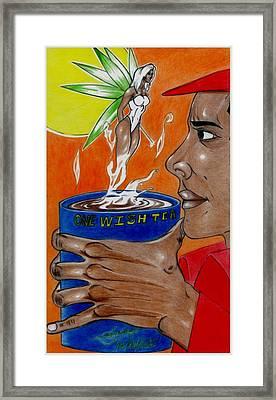 One Wish Tea Framed Print by Lorenzo Depluzer