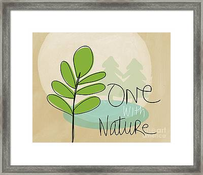 One With Nature Framed Print by Linda Woods