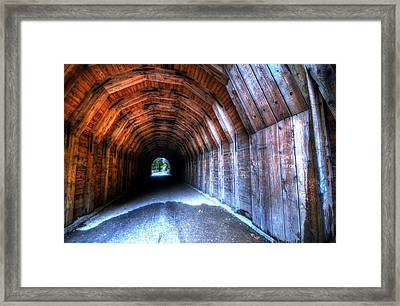 Oneonta Gorge Tunnel Framed Print