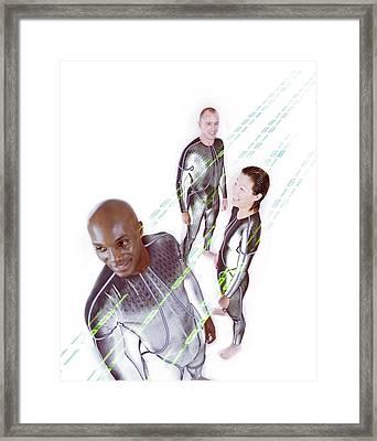Online Community Framed Print by Coneyl Jay