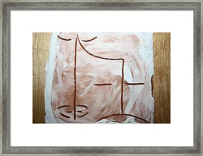 Only - Tile Framed Print by Gloria Ssali