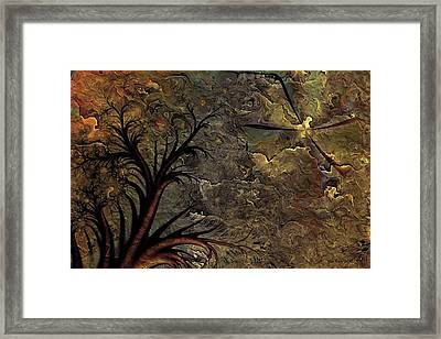 Framed Print featuring the digital art Only A Dream by Kim Redd