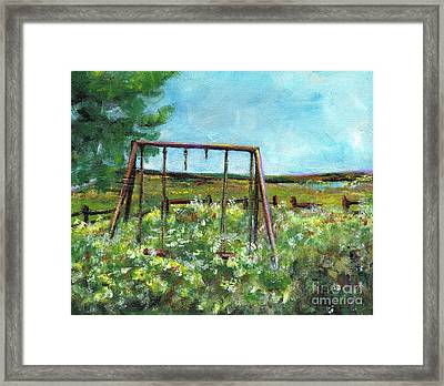 Only The Memories Remain Framed Print by Frances Marino