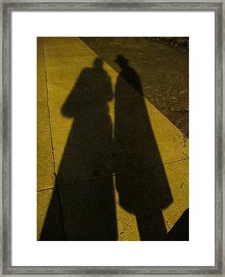 Only The Shadow Knows Framed Print by Valia Bradshaw