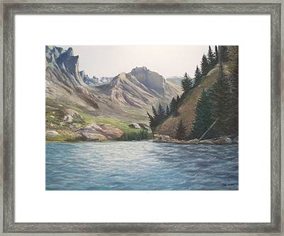 Only The Sound Of The Waves Framed Print