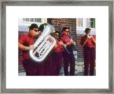 Oompah Band Framed Print by Susan Savad