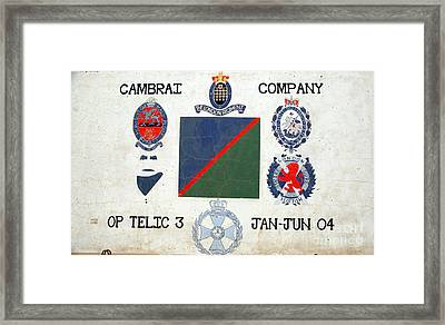 Op Telic 3 Framed Print by Unknown
