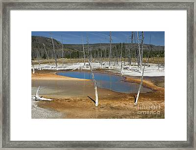 Opalescent Pool Of Yellowstone Framed Print by Sandra Bronstein