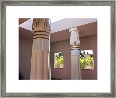 Open Air Temple Framed Print by Susan Alvaro