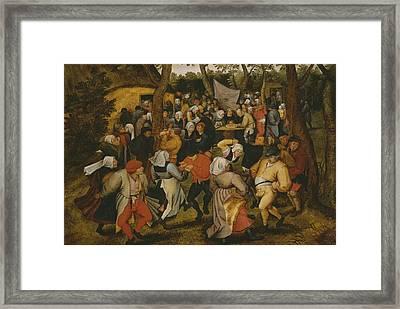 Open Air Wedding Dance Framed Print by Pieter the Younger Brueghel