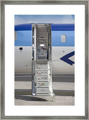 Open Airplane Stairs Framed Print