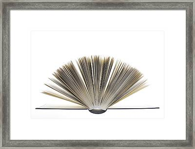 Open Book Framed Print by Frank Tschakert