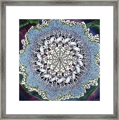 Open Doors Or January Mandala Framed Print by Jess-o