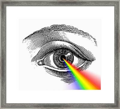 Open Eye Framed Print by Mehau Kulyk