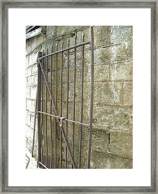 Framed Print featuring the photograph Open Gate by Christophe Ennis