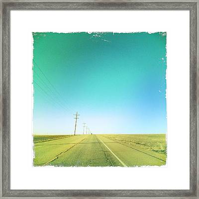 Open Road Framed Print by A L Christensen