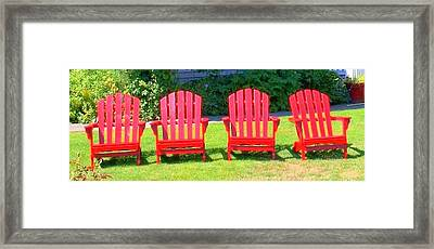 Open Seating Framed Print by Randall Weidner
