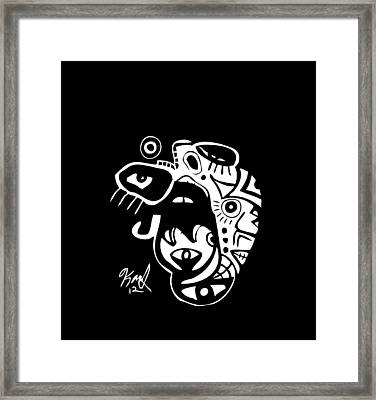 Open Wide Framed Print by Kamoni Khem