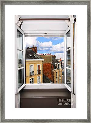 Open Window Framed Print by Elena Elisseeva