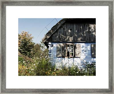 Framed Print featuring the photograph Open Window On Late Summer Afternoon by Agnieszka Kubica