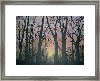 Framed Print featuring the painting Opening Day - Northern Hardwoods by Kathleen McDermott
