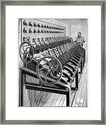 Opera House Lighting Controls, Artwork Framed Print by Cci Archives