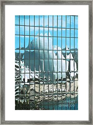 Opera House Reflection Framed Print by Bob and Nancy Kendrick