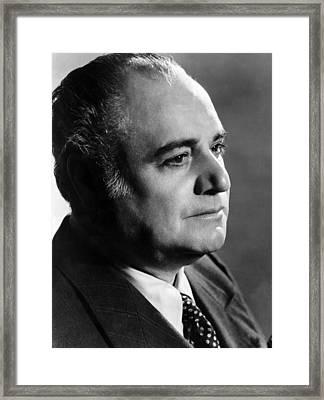 Opera Singer Beniamino Gigli. Ca 1955 Framed Print by Everett
