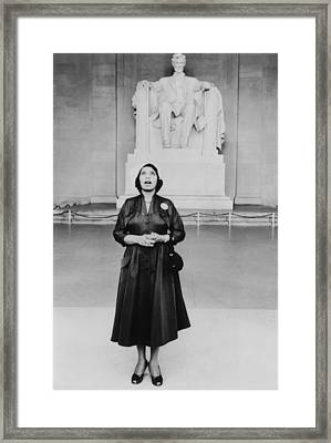 Opera Singer Marian Anderson Stands Framed Print
