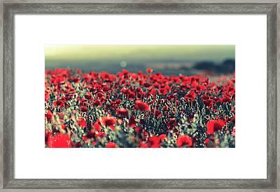 Opium Haze Bokeh Framed Print by s0ulsurfing - Jason Swain