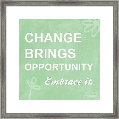Opportunity Framed Print by Linda Woods
