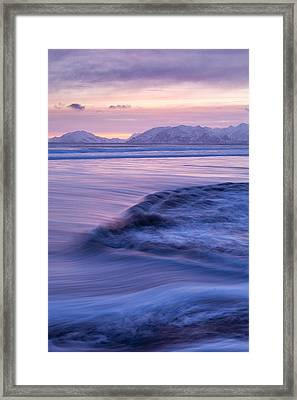 Opposing Waves Framed Print by Tim Grams