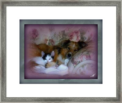 Opposites Attract Framed Print by Michelle Frizzell-Thompson