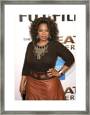 Oprah Winfrey At Arrivals For The Great Framed Print by Everett