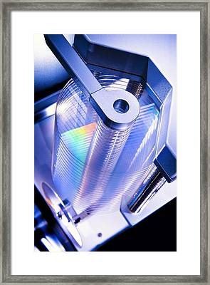 Optical Disc Production Machine Framed Print by Richard Kail