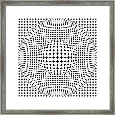 Optical Illusion Ball In Ball Framed Print