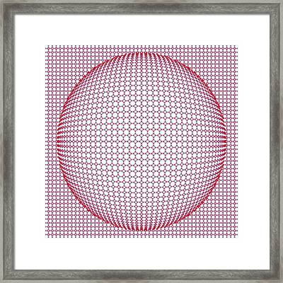 Optical Illusion Blue And Red Framed Print