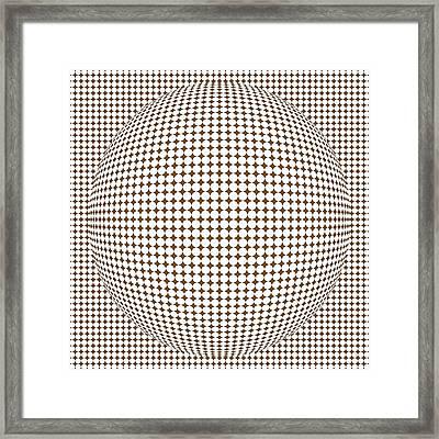 Optical Illusion Brown Ball Framed Print by Sumit Mehndiratta