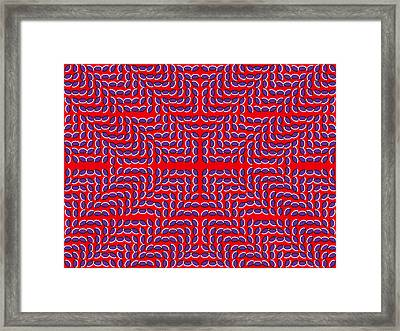 Optical Illusion Mark X Framed Print by Sumit Mehndiratta