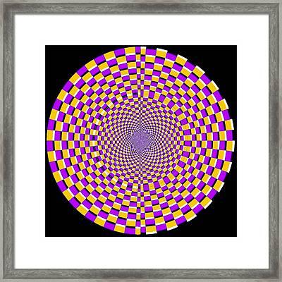 Optical Illusion Moving Cobweb Framed Print