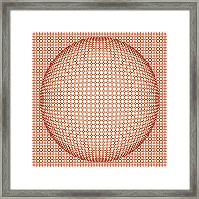 Optical Illusion Orange Ball Framed Print by Sumit Mehndiratta
