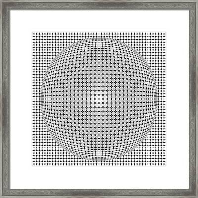 Optical Illusion Plastic Ball Framed Print