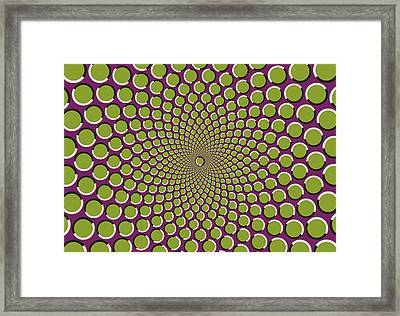 optical illusion Purple well Framed Print by Sumit Mehndiratta