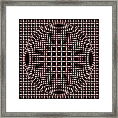 Optical Illusion Red Ball  Framed Print by Sumit Mehndiratta
