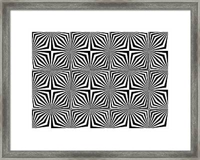 Optical Illusion Spots Or Stares Framed Print