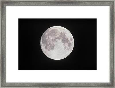Optical Image Of A Full Moon Framed Print by John Sanford