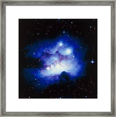 Optical Image Of The Nebula Ngc 1977 In Orion Framed Print by Celestial Image Co.