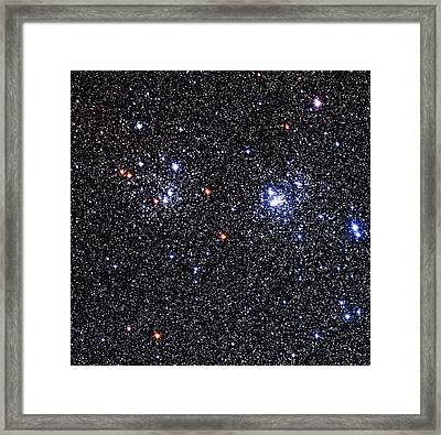 Optical Image Of The Perseus Double Star Cluster Framed Print by Celestial Image Co.