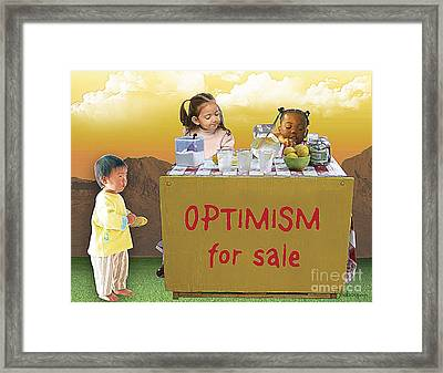 Optimism For Sale Framed Print